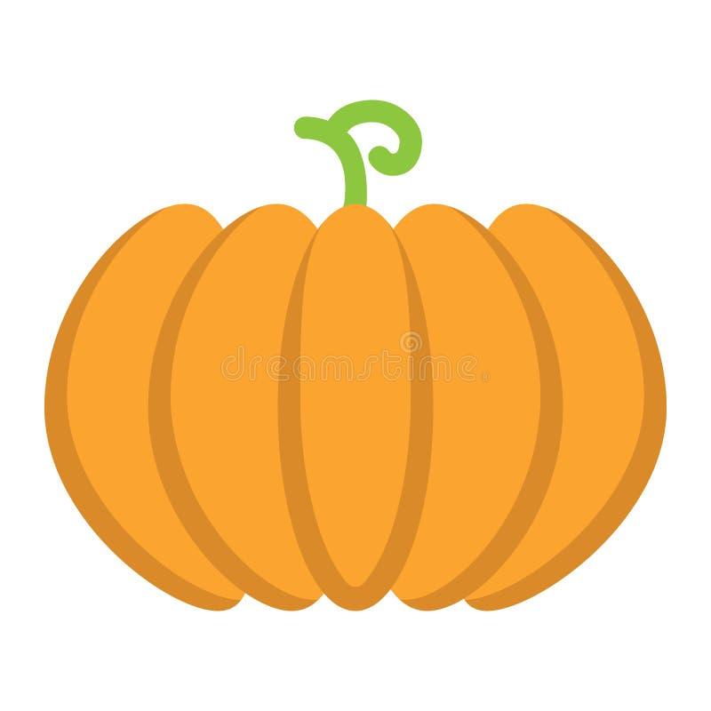 Ícone liso da abóbora, frutas e legumes ilustração royalty free