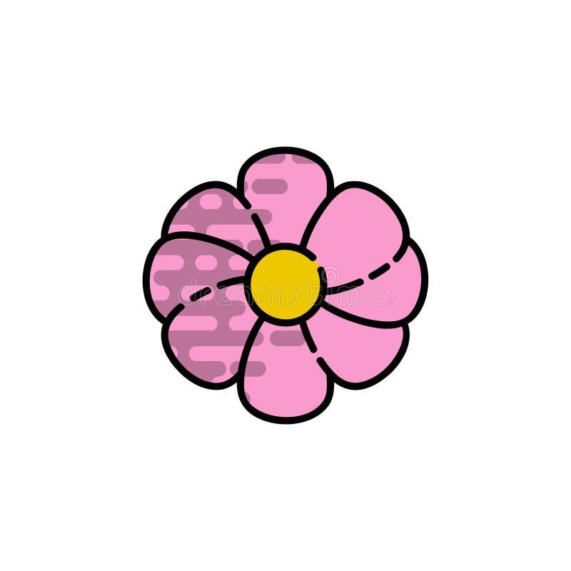 Ícone liso da alergia ilustração do vetor