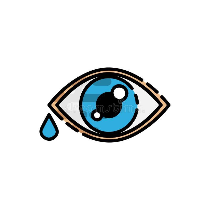 Ícone liso da alergia ilustração royalty free