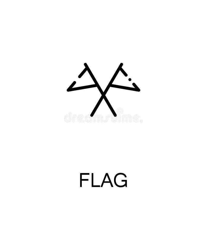 Ícone liso da bandeira ilustração royalty free