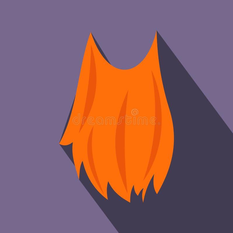 Ícone liso da barba do duende ilustração stock
