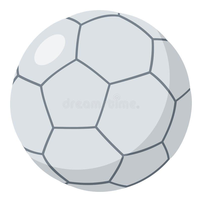 Ícone liso da bola de Futsal isolado no branco ilustração royalty free