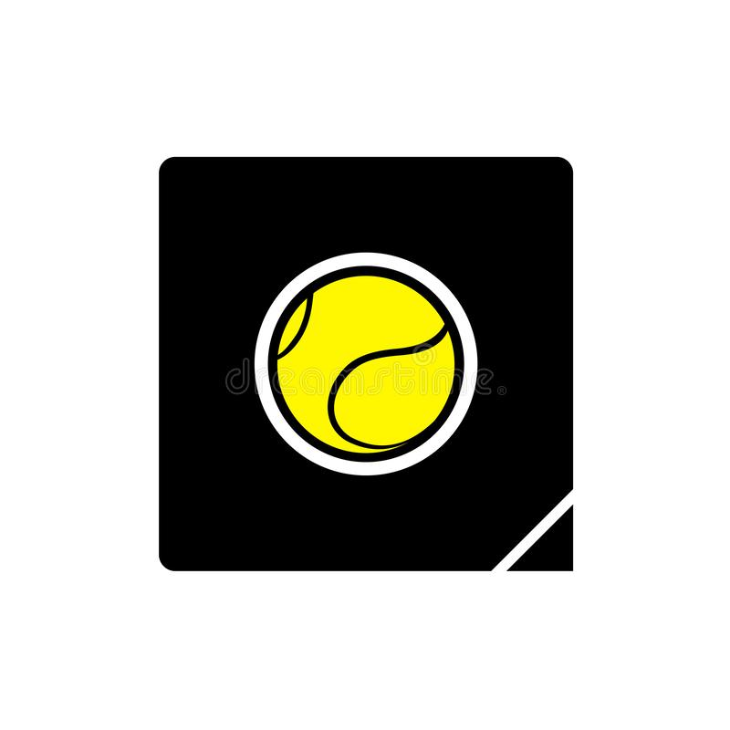 Ícone liso da bola de tênis ilustração royalty free