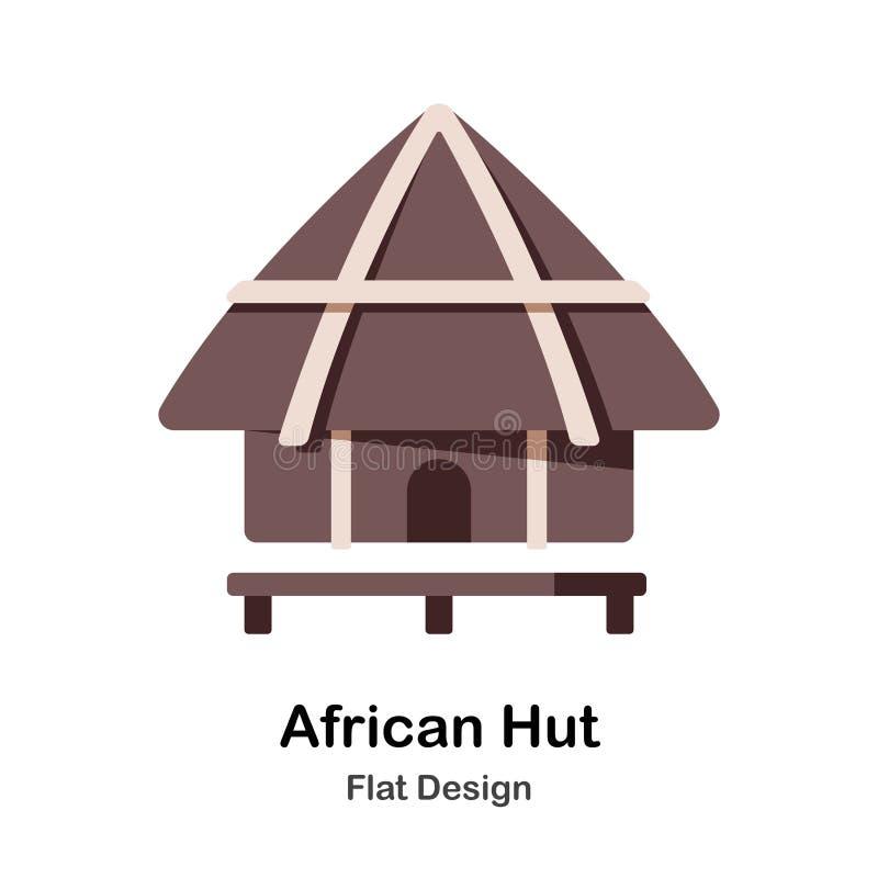Ícone liso da cabana africana ilustração royalty free