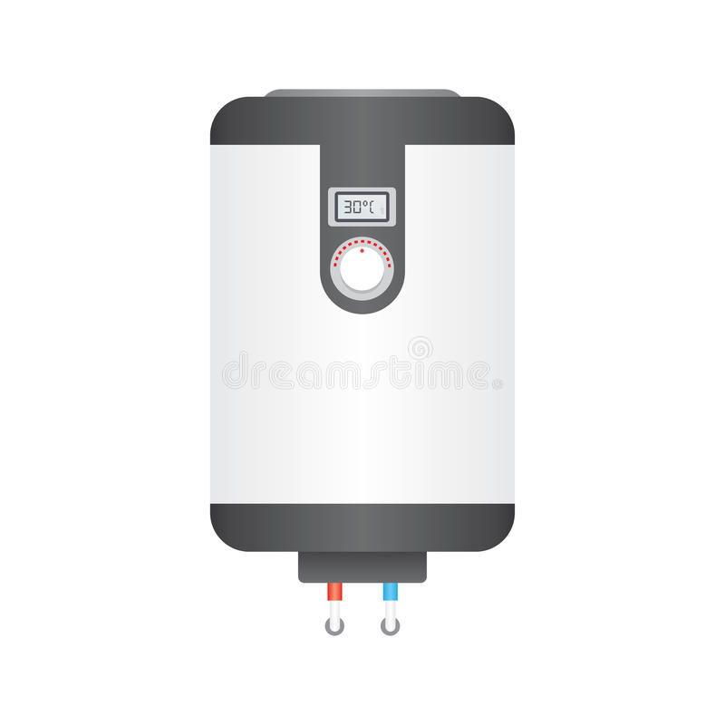 Ícone liso da caldeira elétrica, ilustração stock