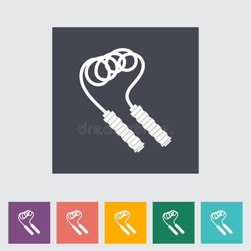 Ícone liso da corda de salto ilustração stock