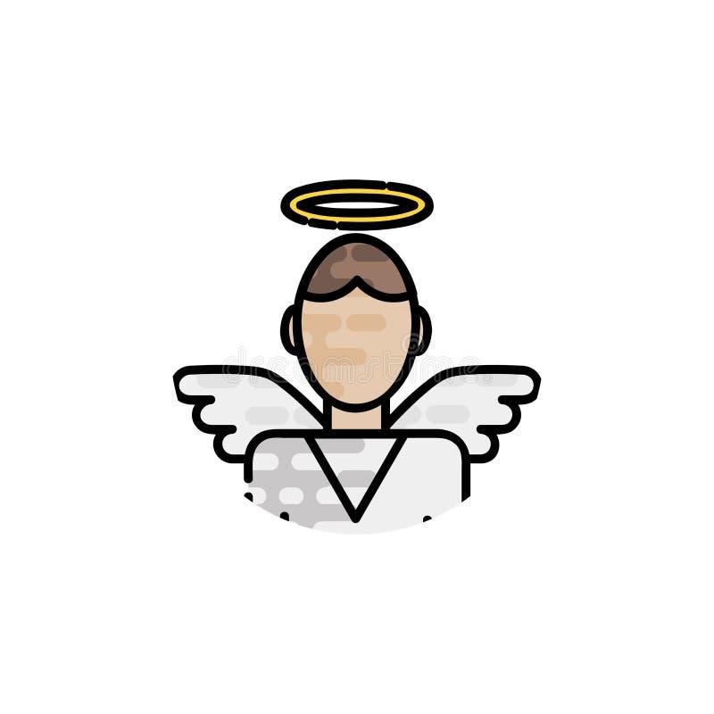 Ícone liso da cristandade ilustração do vetor