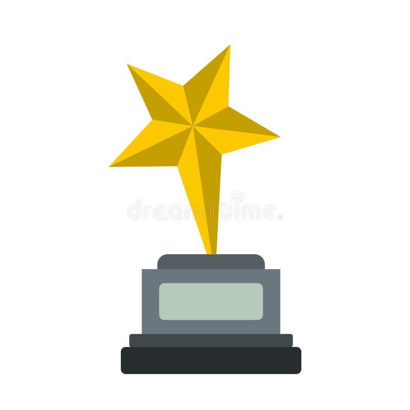 Ícone liso da estrela do cálice ilustração royalty free