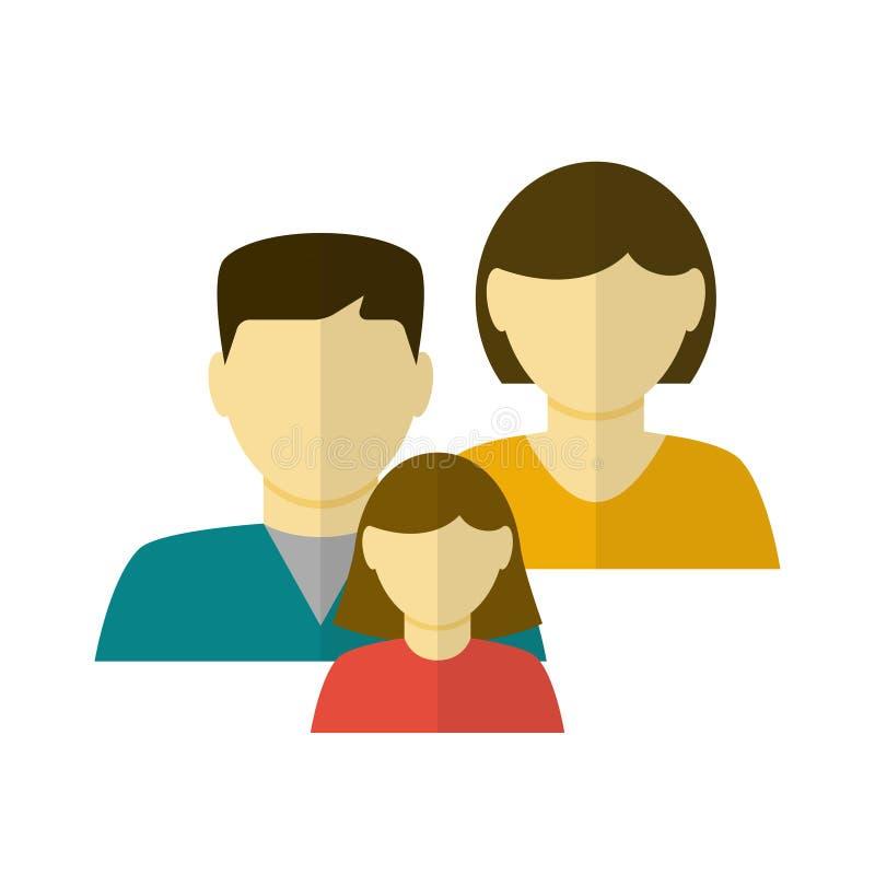 Ícone liso da família ilustração do vetor