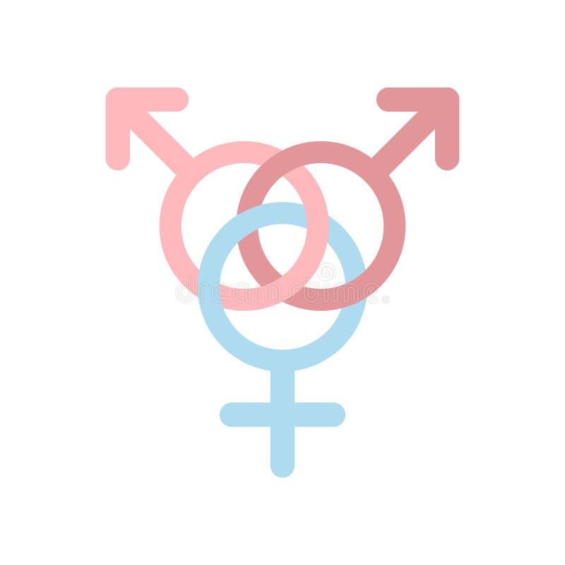 Ícone liso da família homossexual ilustração do vetor