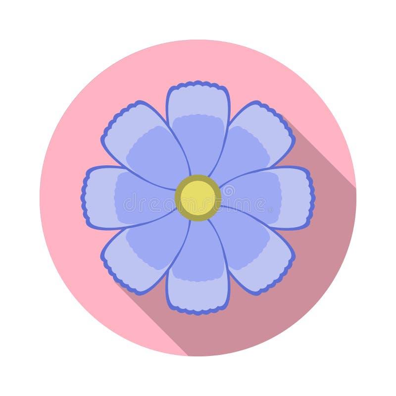 Ícone liso da flor do cosmos com sombra imagens de stock