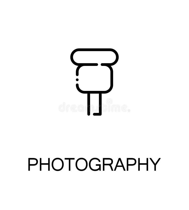 Ícone liso da fotografia ilustração royalty free