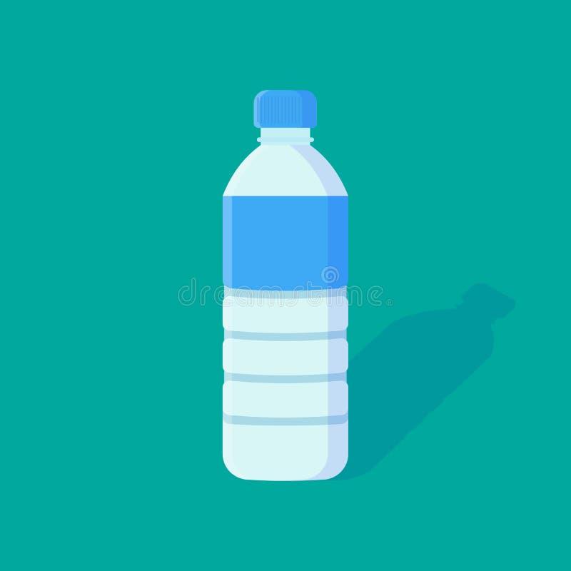 Ícone liso da garrafa de água ilustração royalty free