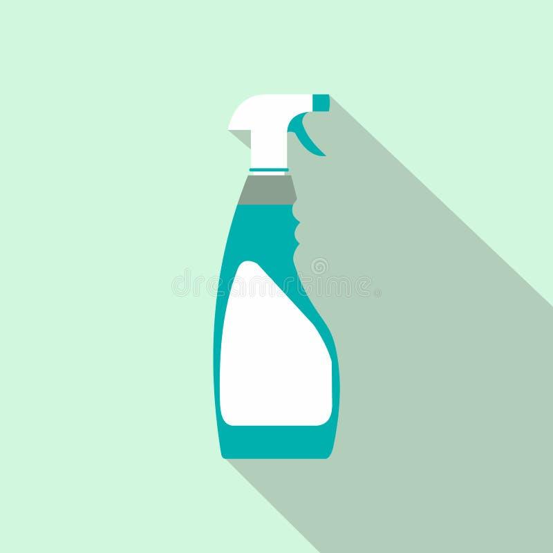 Ícone liso da garrafa do pulverizador ilustração stock
