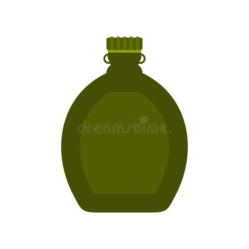 Ícone liso da garrafa do turista ilustração royalty free