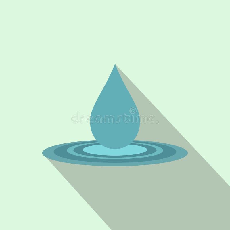 Ícone liso da gota da água ilustração stock