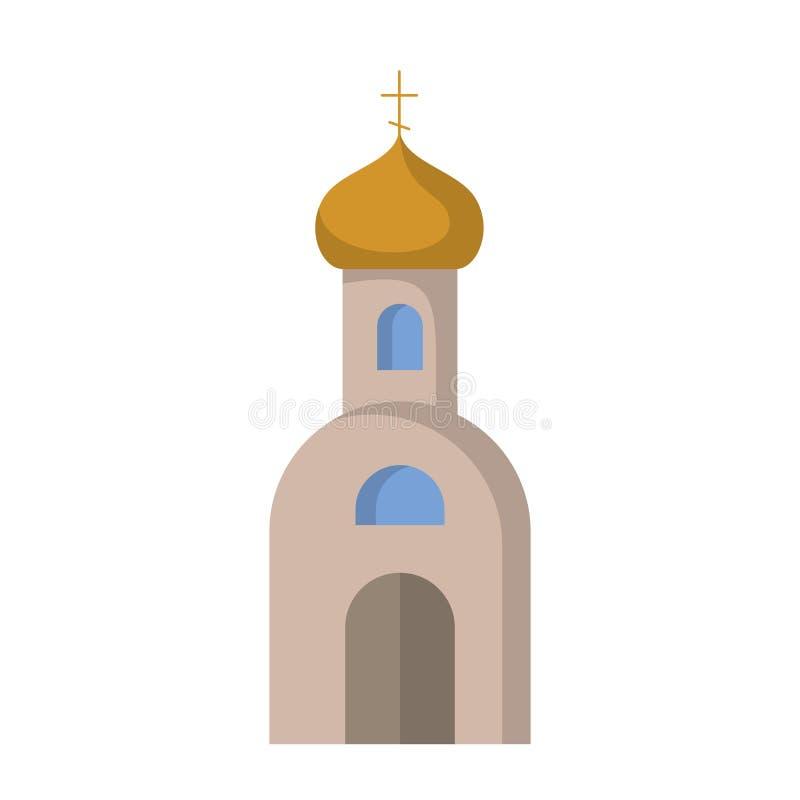Ícone liso da igreja ortodoxa ilustração royalty free