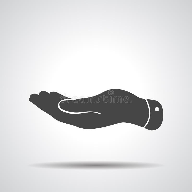 ícone liso da mão ilustração do vetor