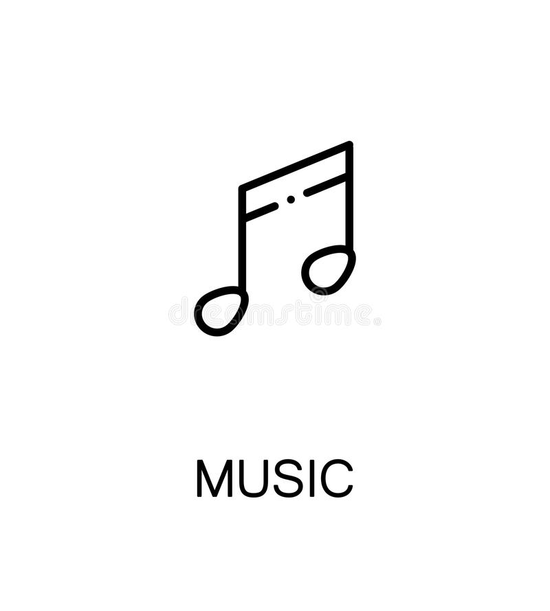 Ícone liso da música ilustração do vetor