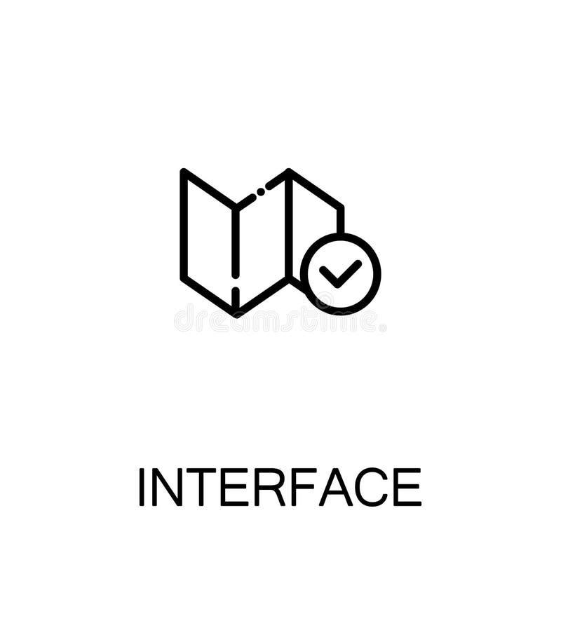 Ícone liso da relação ilustração stock