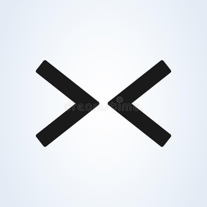 Ícone liso da seta da Web da direita para a esquerda no fundo branco ilustração royalty free