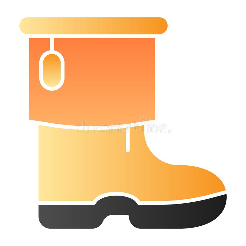 Ícone liso das botas do inverno da mulher As botas mornas colorem ícones no estilo liso na moda Projeto fêmea do estilo do inc ilustração royalty free