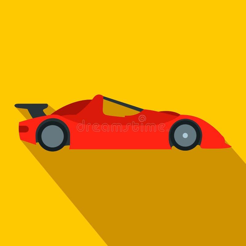 Ícone liso de pressa do carro de corridas ilustração stock