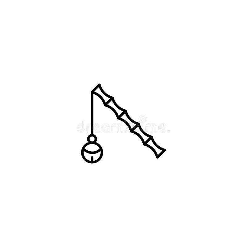 Ícone liso do animal de estimação ilustração stock
