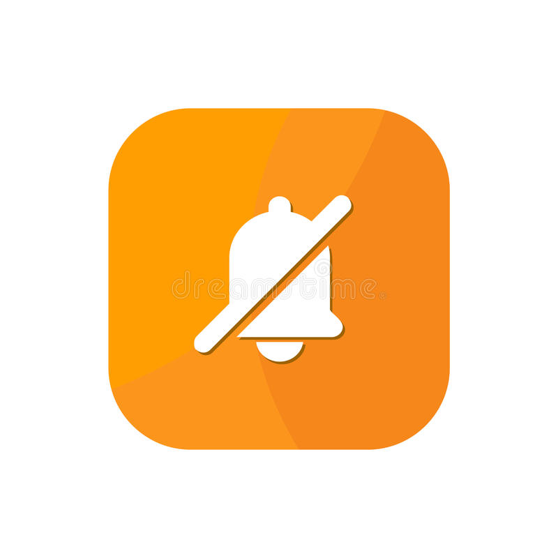 Ícone liso do App da notificação ilustração royalty free
