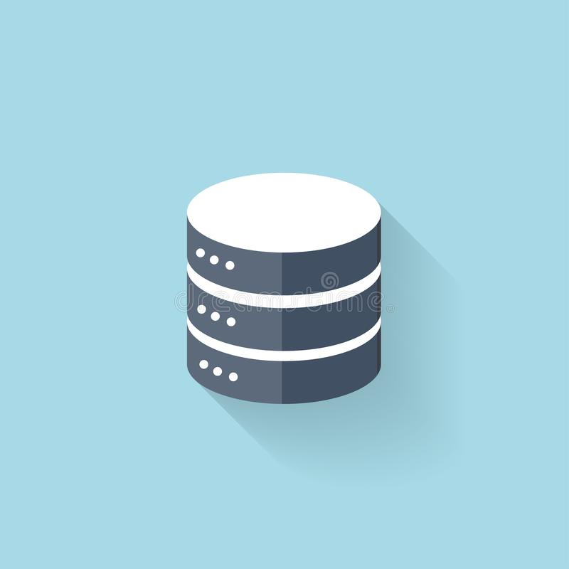 Ícone liso do armazenamento de dados para a Web ilustração stock