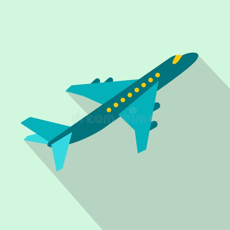 Ícone liso do avião do passageiro ilustração do vetor