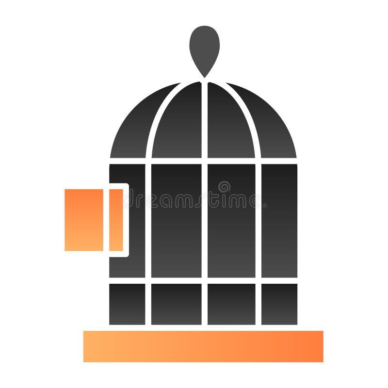 Ícone liso do Birdcage Ícones da cor da gaiola de pássaros no estilo liso na moda Projeto do estilo do inclinação da pilha, proje ilustração do vetor