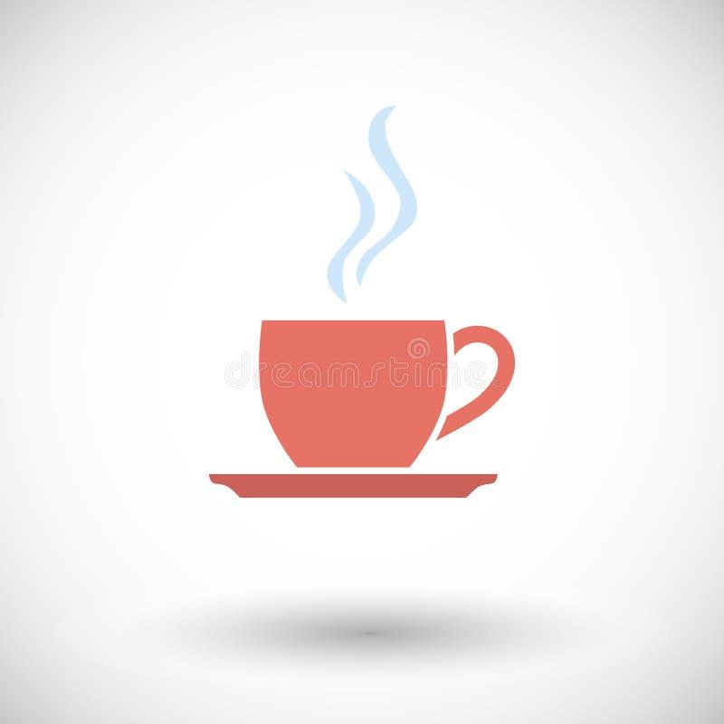 Ícone liso do café único ilustração royalty free