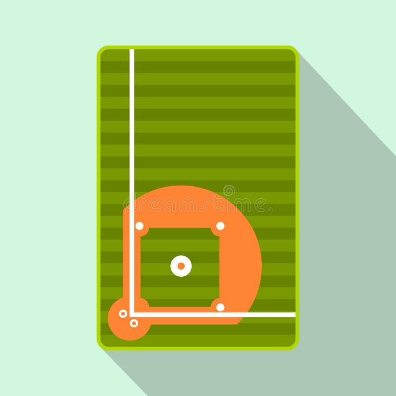 Ícone liso do campo de basebol ilustração royalty free