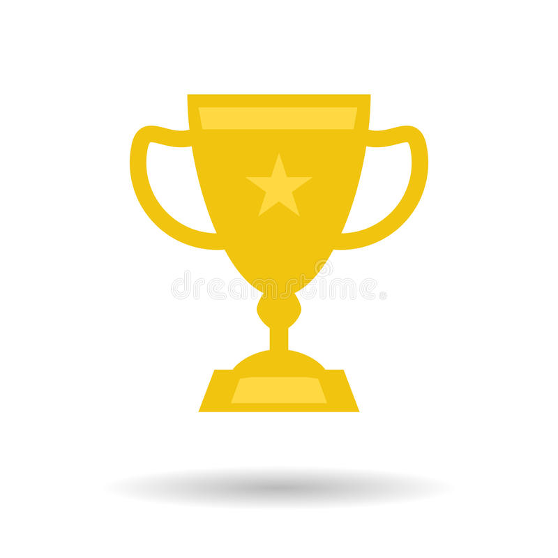 Ícone liso do copo do troféu ilustração stock