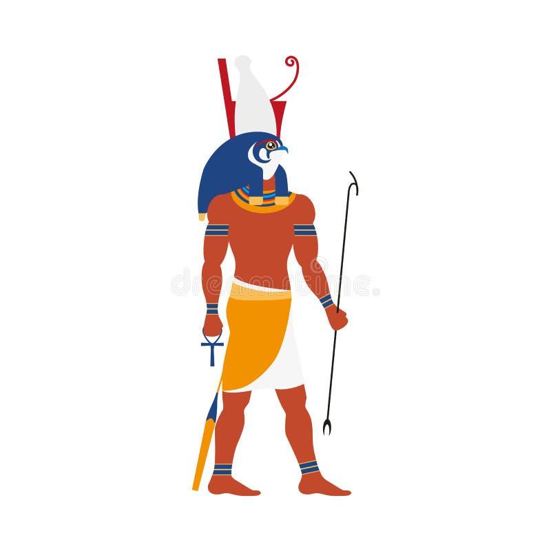 Ícone liso do deus de Horus Egito do vetor ilustração do vetor