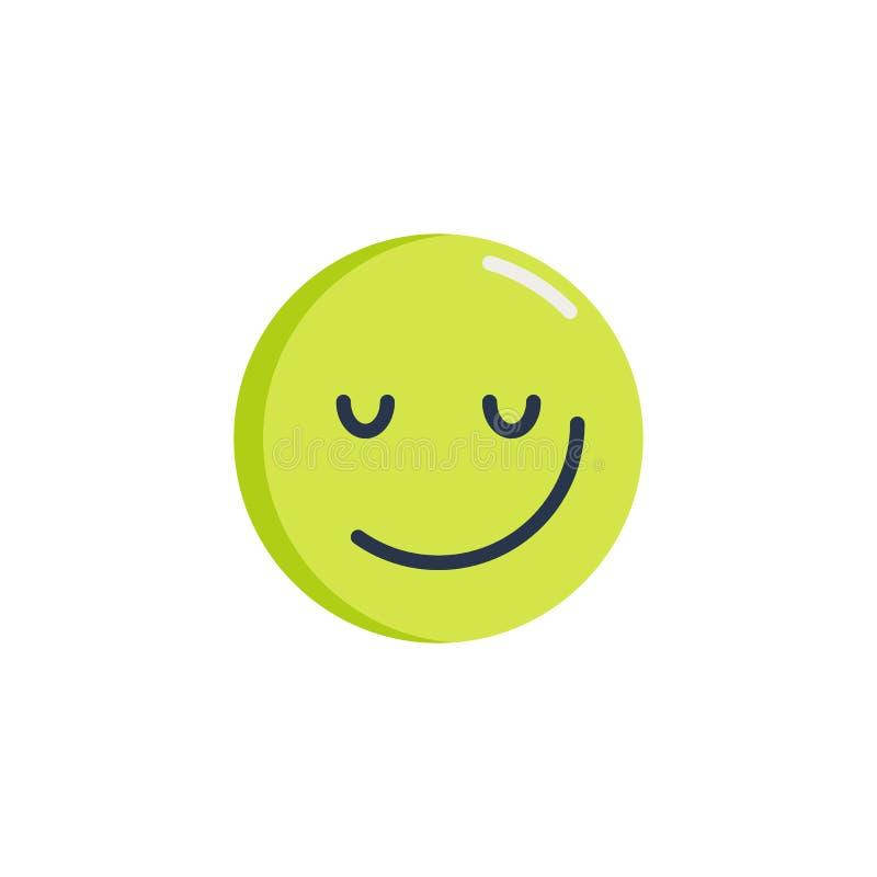 Ícone liso do emoticon Sassy da cara ilustração stock