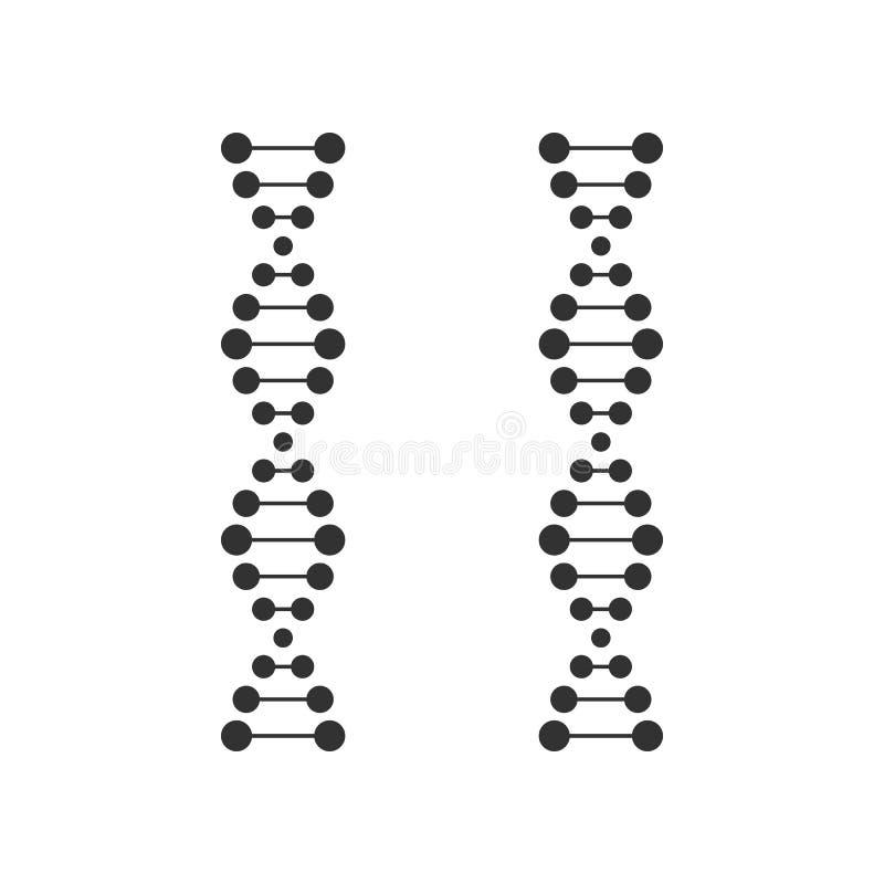 Ícone liso do esboço da costa do ADN no branco ilustração royalty free