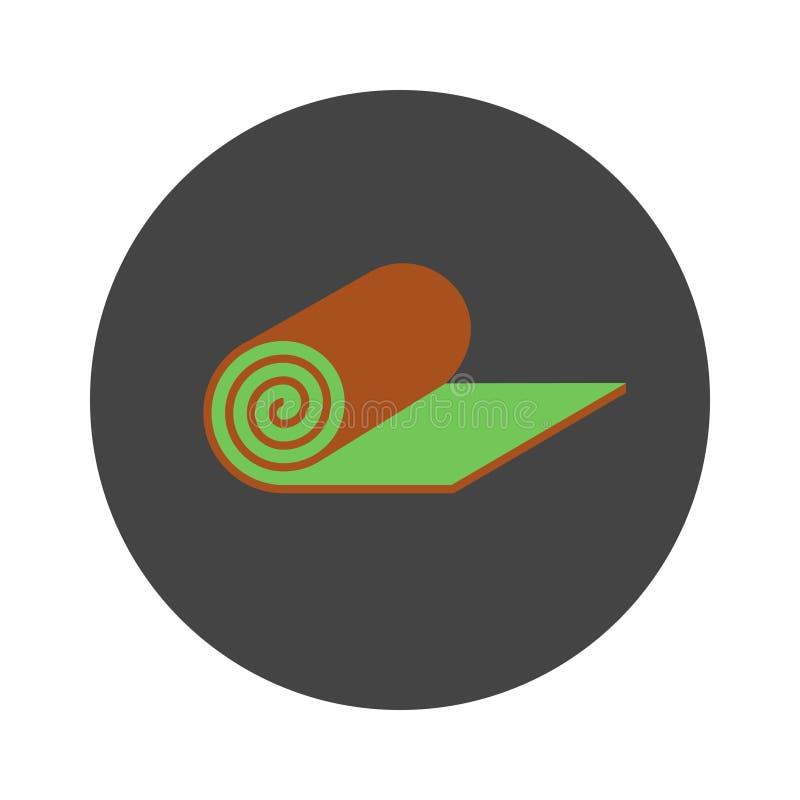 Ícone liso do gramado do rolo ilustração stock