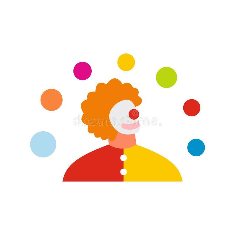 Ícone liso do homem do Juggler ilustração royalty free