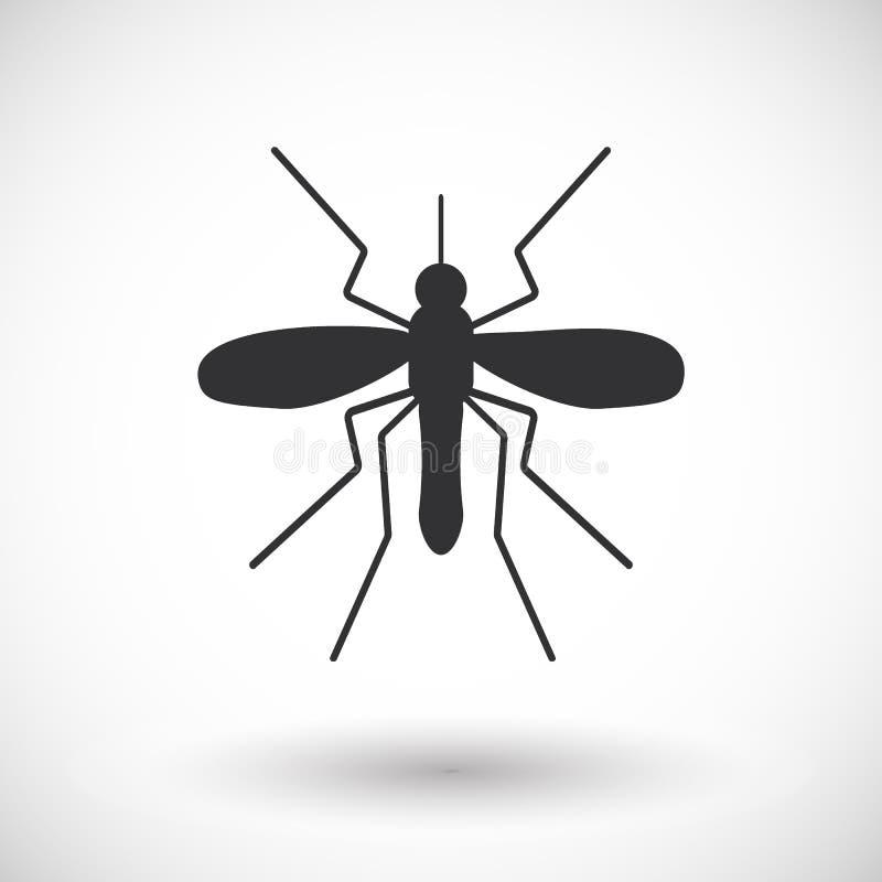 Ícone liso do mosquito ilustração do vetor