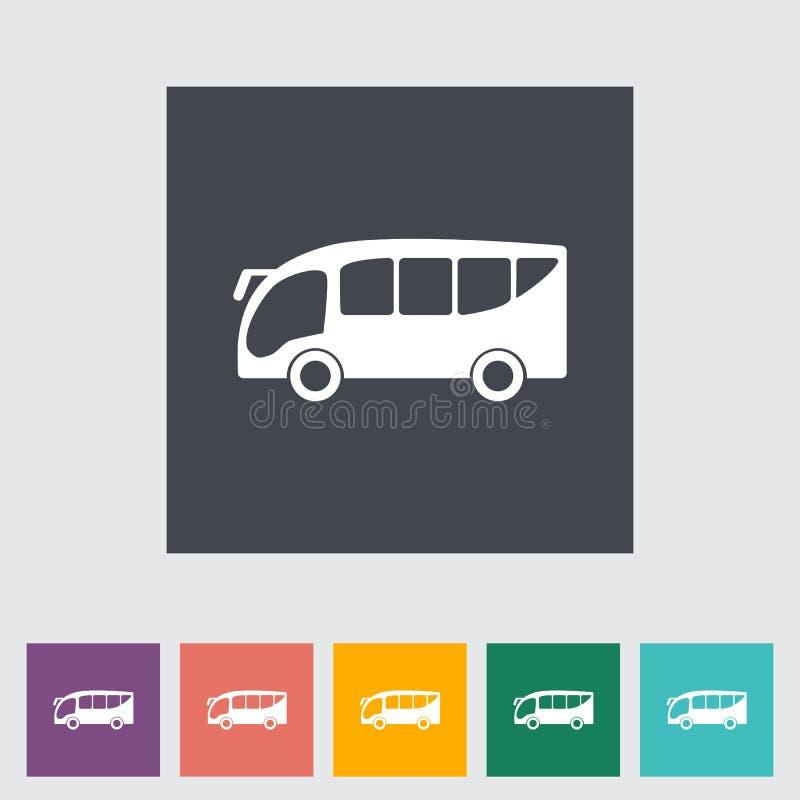 Ícone liso do ônibus ilustração royalty free