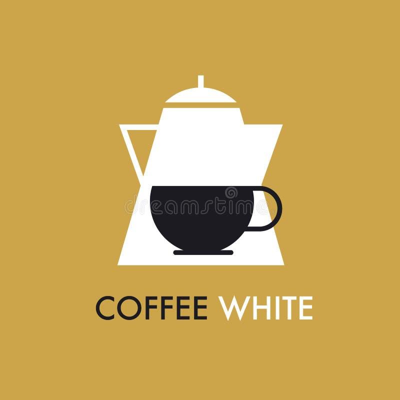 Ícone liso do potenciômetro e do tampão do café do conceito ilustração do vetor