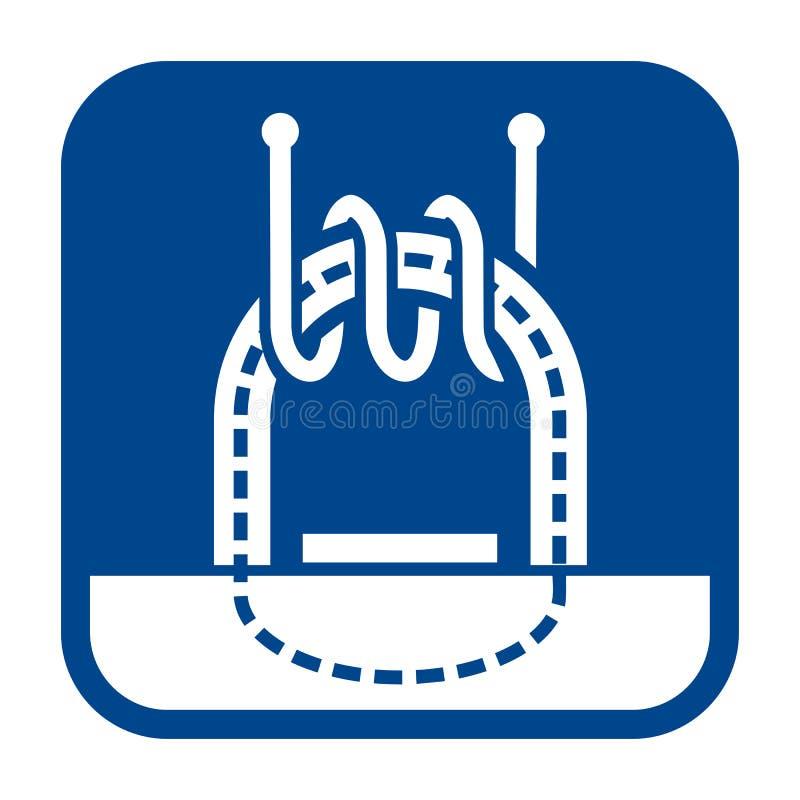 Ícone liso do projeto do vetor de testes eletromagnéticos ilustração do vetor