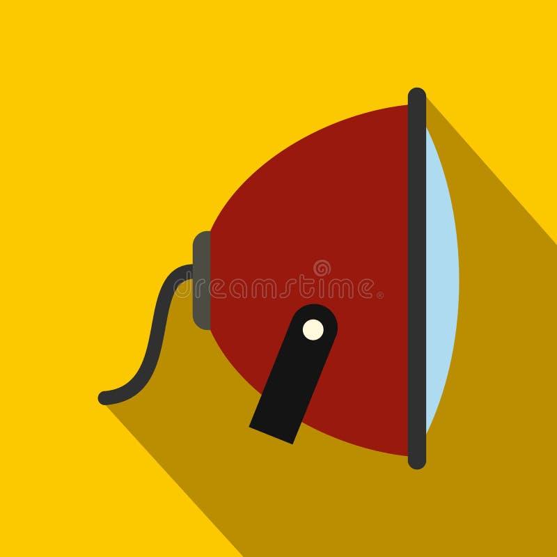Ícone liso do projetor com sombra ilustração do vetor
