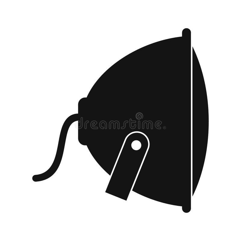 Ícone liso do projetor preto ilustração royalty free