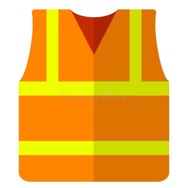Ícone liso do revestimento da segurança da veste da estrada ilustração royalty free