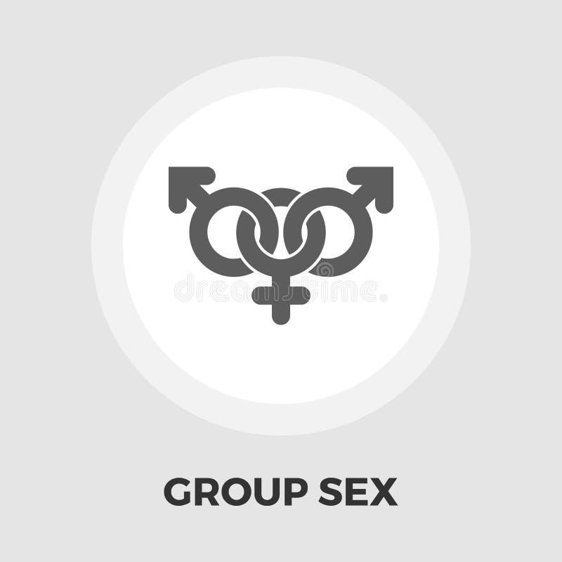 Ícone liso do sexo em grupo ilustração royalty free