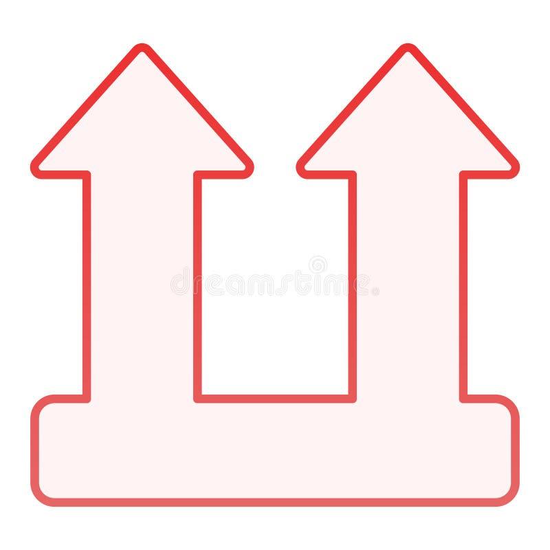 Ícone liso do sinal da carga da carga Ícones vermelhos do símbolo da seta da carga no estilo liso na moda Projeto do estilo do in ilustração stock