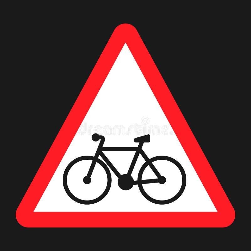 Ícone liso do sinal da pista da bicicleta e da bicicleta ilustração royalty free